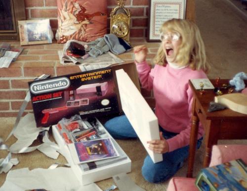 My sister, Christmas 1987